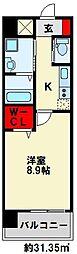 ZEGUNA(ゼグナ) 7階1Kの間取り