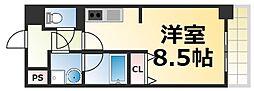 Osaka Metro千日前線 今里駅 徒歩4分の賃貸マンション 7階1Kの間取り
