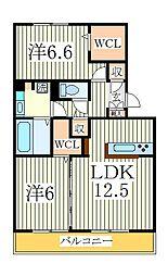 アネシスII[3階]の間取り