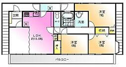 メゾンオギハラ[2階]の間取り