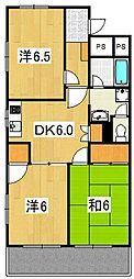 ジュノー・ムカイ[2階]の間取り