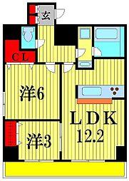 Crest Mabashi[5階]の間取り