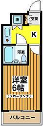 東京都杉並区永福3丁目の賃貸マンションの間取り