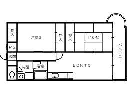 シャトウM[3階]の間取り