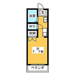 セントラルKAZU A棟[3階]の間取り