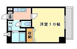 愛媛県松山市山越2丁目の賃貸マンションの間取り