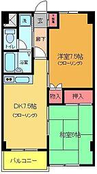 マンション鈴音[304号室]の間取り
