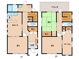 [一戸建] 和歌山県和歌山市井辺 の賃貸【和歌山県 / 和歌山市】の間取り