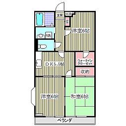 埼玉県さいたま市桜区大字神田の賃貸マンションの間取り