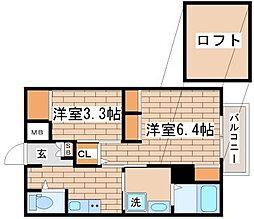 兵庫県神戸市須磨区妙法寺字大津江の賃貸マンションの間取り