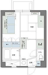 アルファコンフォート高松[2階]の間取り