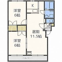北海道札幌市白石区東札幌三条3丁目の賃貸マンションの間取り