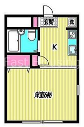 東京都中野区上鷺宮5丁目の賃貸アパートの間取り