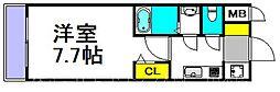 S-RESIDENCE三国 6階1Kの間取り