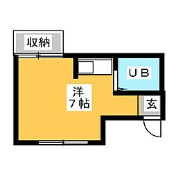 ハウスタゾー[1階]の間取り