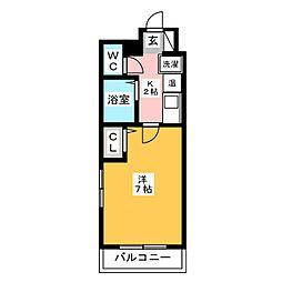 アクタス博多[7階]の間取り