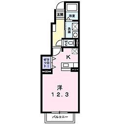 プラシード TAKA[103号室]の間取り
