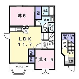エクセレントパークB棟[2階]の間取り