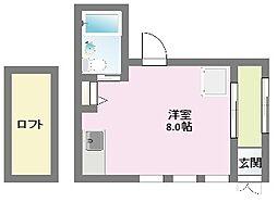 兵庫県神戸市中央区東雲通2丁目の賃貸アパートの間取り
