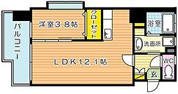 サンシャインプリンセス北九州[7階]の間取り