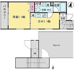 SOSHIGAYA TERRACE[3階]の間取り