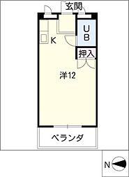 メゾン河合[3階]の間取り