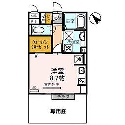 エーデルハウス[1階]の間取り
