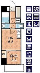 ラシュレエグゼ天王寺[13階]の間取り