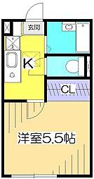 ルネコート西国分寺[1階]の間取り