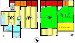 [一戸建] 千葉県松戸市大金平4丁目 の賃貸【千葉県 / 松戸市】の間取り