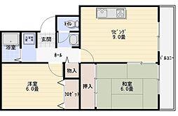 サニープラザ A棟[1階]の間取り