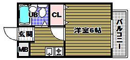 ハイツタキダニI[1階]の間取り