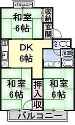 シャルムKSK1[203号室号室]の間取り