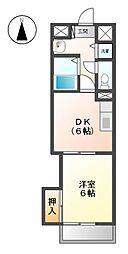 第2黒川タ−ミナルハイツ[6階]の間取り