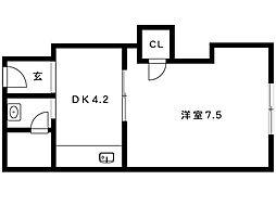 プチシャトー徳井[31号室]の間取り