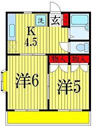 プランドールI・S東アパート A棟[1階]の間取り