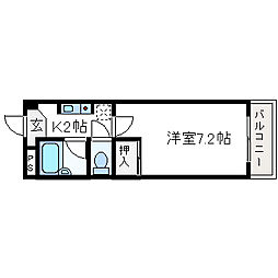 サンライン富田丘[3階]の間取り