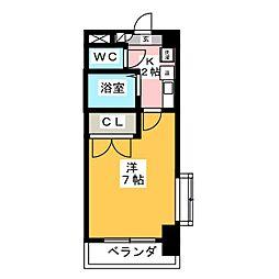 セントラルハイツ筒井[2階]の間取り