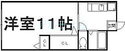 山科マンション[3階]の間取り