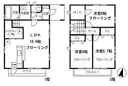 [一戸建] 東京都世田谷区岡本3丁目 の賃貸【/】の間取り