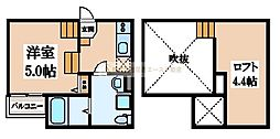 Casa del canario諏訪ノ森(カサデルカナリオ諏訪ノ森)[1階]の間取り