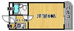 ラフォーレ助松[2H号室]の間取り