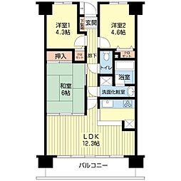 ダイアパレス成東[12階]の間取り