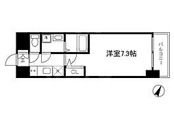 Osaka Metro谷町線 南森町駅 徒歩9分の賃貸マンション 10階1Kの間取り