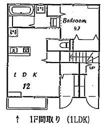 グランデールV AB[B102号室]の間取り