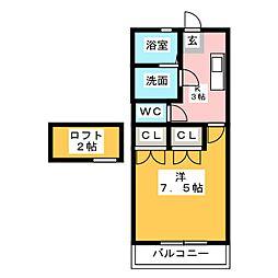 ドリームメゾン太宰府[2階]の間取り