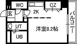 セルベッサ札幌レジデンス[702号室]の間取り