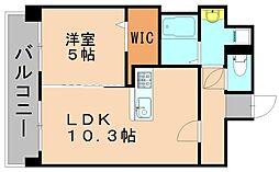美野島1丁目賃貸マンション[2階]の間取り