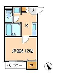 千葉県松戸市緑ケ丘1丁目の賃貸アパートの間取り