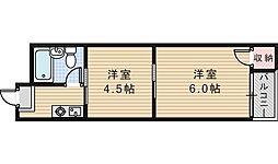 駒川エンビィハイツ[6階]の間取り